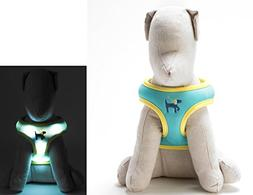 Light Up LED Dog Comfort Harness - Patented Light Up Glowing