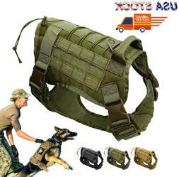 M/L Police K9 Tactical Training Dog Harness Military Adjusta
