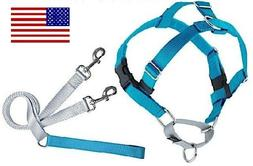 MED 2 Hounds NO PULL Freedom Dog Harness & Training Leash Pk