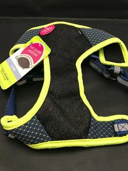 Mesh Top paw Dog Harness , Reflective Black  with Bright Yel