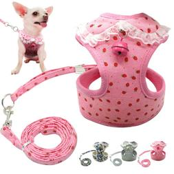 Mesh Padded Small Dog Harness Leash Set Pet Cat Puppy Vest f
