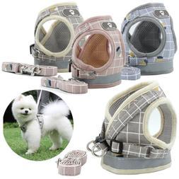 Mesh Reflective Pet Dog Harness Leash Set Soft XS-XL Puppy C