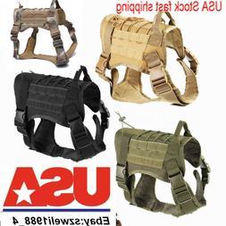 Military Tactical Training K9 Dog Harness Nylon Vest F pet P
