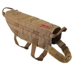 OneTigris Tactical Training K9 Dog Harness Molle Nylon Vest