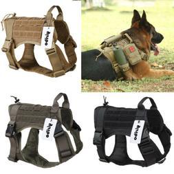 Military Tactical Training K9 Dog Harness Nylon Vest for Pol