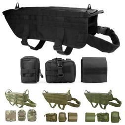 Military Tactical Training K9 Police Dogs Harness 600D Nylon