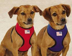 Casual Canine Neoprene Dog Harness Red Blue Lightweight Wate