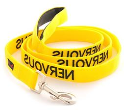 NERVOUS Yellow Color Coded 2 4 6 Foot Padded Dog Leash  PREV