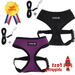 New Dog Safety Vest Harness with Durable Nylon Dog Leash for