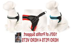 Top Paw New Fit Dog Harness Gray Red Blue Padded XS S M L XL