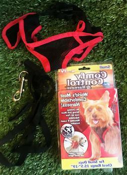 New Open COMFY CONTROL Dog Harness Small W/ 5' Leash Telebra