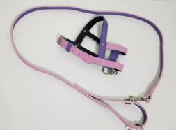 "NEW Pet Harness and Leash 48"" Small Dog Animals Pink Purple"