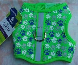 NEW TOP PAW REFLECTIVE VEST HARNESS.  GREEN WITH DOG BONES P
