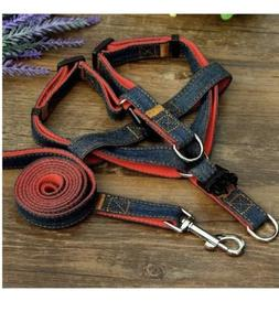 new small adjustable dog harness and leash