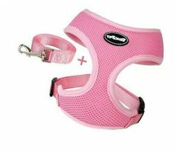 NEW BINGPET Small Dog Harness and Leash Soft Puppy Vest for