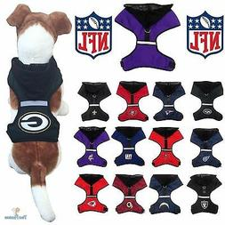 NFL Fan Gear Dog Harness with Hood for Pets Dogs Puppy - PIC