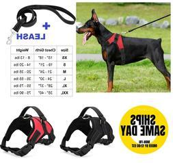 No Pull Adjustable Dog Pet Vest Harness Quality Nylon PLUS L