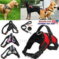 No Pull Adjustable Dog Pet Vest Harness Heavy Duty Nylon Sma