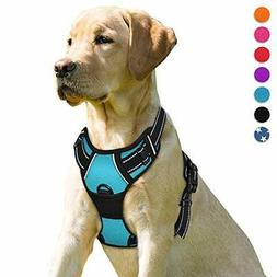 No Pull Dog Harness Front Clip Heavy Duty Reflective Easy Co