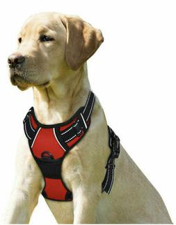 No Pull Dog Harness Front Clip Heavy Duty Reflective Easy Co