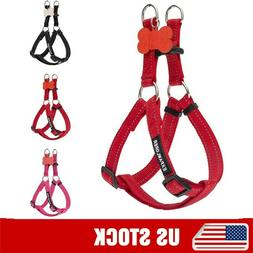 No Pull Dog Harness-Reflective Adjustable Nylon Harness w/ P