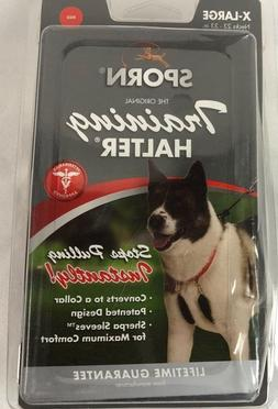 """Sporn NO PULL  Dog Training Halter RED X-Large Neck 23-33"""""""