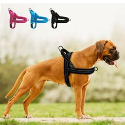 No Pull Dog Harness Soft Velvet Padded Reflective Quick Fit