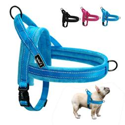 No Pull Padded Dog Harness Quick Fit Reflective Strap Vest f