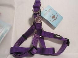 PUPTECK No Pull  Pet Dog Adjustable Nylon Strap Harness Purp