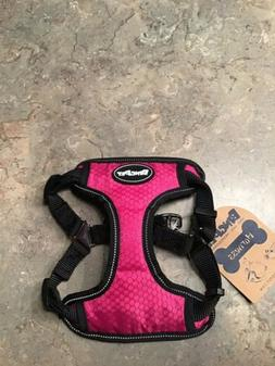 BINGPET No Pull Reflective Dog Harness  Pink Black Small Pup