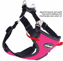 BINGPET No Pull Reflective Dog Harness - Small - Pink or Gra