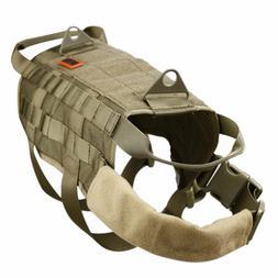 OneTigris Tactical Dog Training Vest Harness with Mesh Paddi