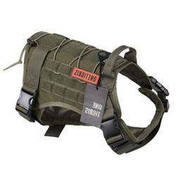 OneTigris Tactical K9 Trainning Service Dog Harness Nylon Ve