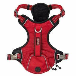 KONG Padded Chest Plate Reflective Dog Harness Red, Grey, Gr