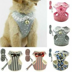 Harness Pet Vest Leash and Dog Mesh Set Cat Soft Puppy Small