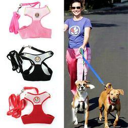 Pet Dog Lead Mesh Harness Halter Soft Vest Leash Webbing Str