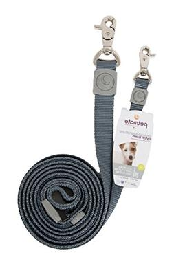 "Petmate Aspen Pet Products Lead, Pewter, 1"" x 6'"