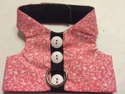Pink Bird Spiral Harness Vest Dog - XS 839