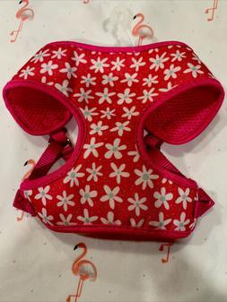 pink daisy puppy xs dog harness new