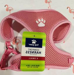 Pink paw print Puppy Dog Harness XS Top Paw