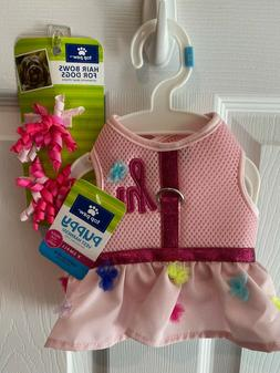 Top Paw Pink ruffle skirt dog puppy harness XS extra small w