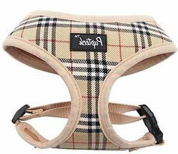 PUPTECK Plaid Soft Mesh Dog Harness Vest No Pull Harnesses -