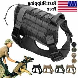 Police K9 Tactical Training Dog Harness Military Adjustable