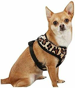 East Side Collection Polyester Plush Leopard-Print Dog Harne
