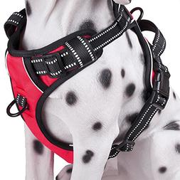 No Pull Dog Harness, Reflective Comfortable Vest Harness wit