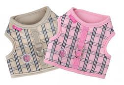 Puppia Dog Harness - Victorian Vest Tan/Pink Pinkaholic 2 St