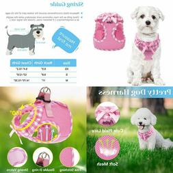 PUPTECK Checkered Frills Soft Mesh Dog Vest Harness XS(und