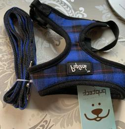 Pupteck Small Dog Harness Soft Mesh Comfortable With Leash B