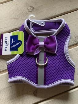 Purple Top Paw Dog Puppy Harness with Bow XXS Adorable!