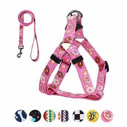 QQPETS Dog Harness Leash Set, Adjustable Heavy Duty No Pull